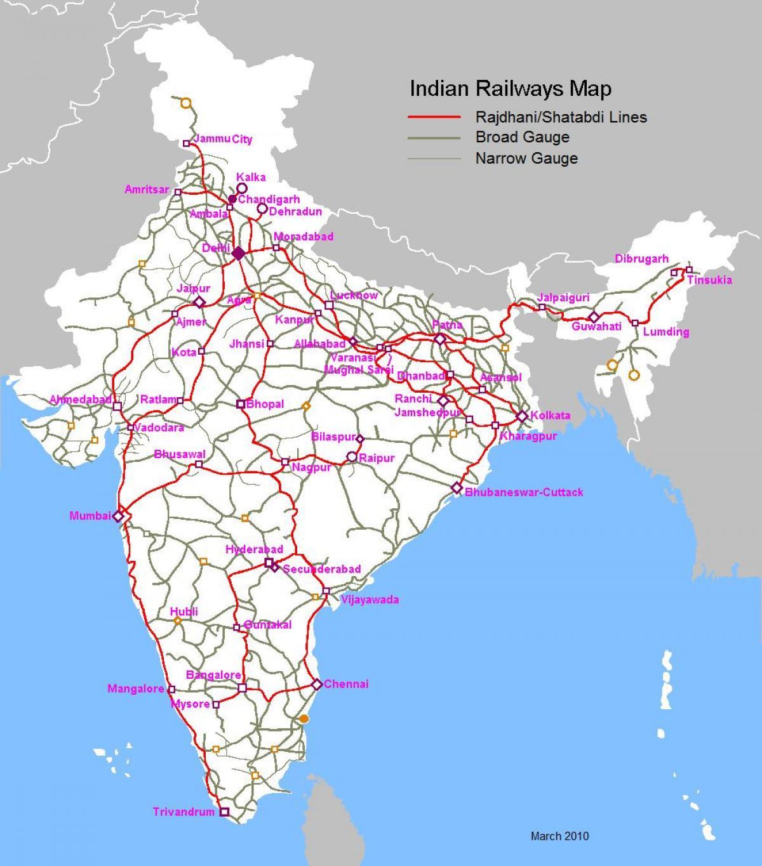 インドの鉄道駅一覧 - List of r...